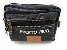 PUERTO RICO FLAG WAIST FANNY BAG Big Strong DENIM ADULT FITS ALL souvenirs 249B1