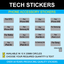 10 x 20mm Black & Silver Accessory Stickers