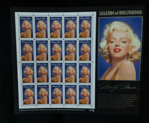Marilyn Monroe US 20 32c Stamps on Legends of Hollywood