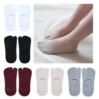 5 paia calzini tabi calzini di cotone zoccoli infradito 2 dita per le donne