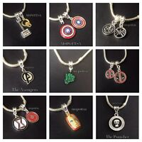 The Avengers European Bracelet Charms Marvel Ironman Captain America Hulk Thor