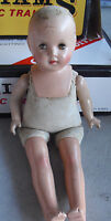 """Vintage 1920s Composition Cloth Girl Character Doll 18"""" Tall"""