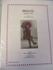 "BREEZE FAIRY~BARB & DOUG KEELING~8"" seated fairy 2002 cloth art doll pattern"