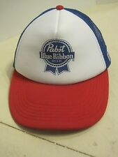 Pabst Blue Ribbon beer trucker hat cap snap back