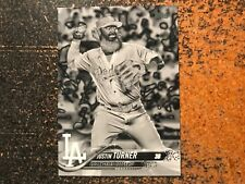 Justin Turner Dodgers 2018 Topps Series 2 NEGATIVE BLACK/WHITE PARALLEL #599