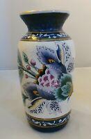 RARE Hand Painted Elegant Floral Cloisonne Japanese Vase