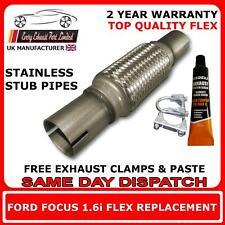 Ford Focus 1.6i 2004-08 Exhaust Replacement Repair Flex Flexi for Catalytic Pipe
