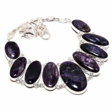 Russian Charoite Gemstone Handmade 925 Sterling Silver Necklace 8304
