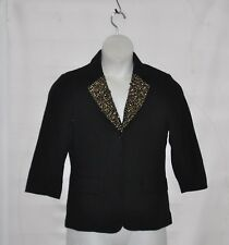 Joan Rivers Sparkle Jacket With Beaded And Sequin Size S Black