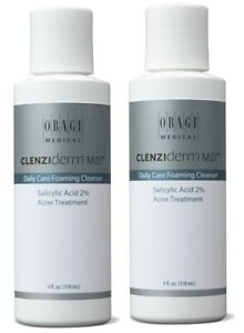 Obagi Clenziderm M.D Daily Care Foaming Cleanser 4 oz - 2 PACK