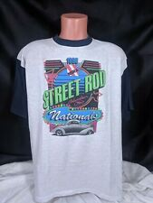 1996 NSRA Street Rod Nationals T-Shirt Sz XL Gray Columbus Ohio Made In USA