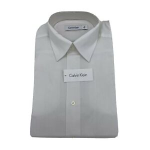Calvin Klein Men's Casual Dress Shirt L/S Fancy White Size 15 32/33