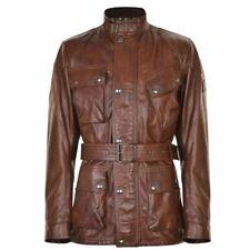 Belstaff Men's Panther Leather Jacket Cognac Brown Size 50/40 US **Brand New**