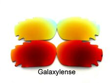 Galaxy Replacement Lenses For Oakley Racing Jacket Red&Gold Polarized 2Pair