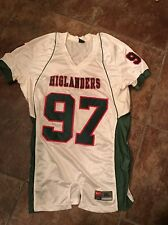 Nike Mens White and Green Higlanders #97 Football Jersey Size XL NEW