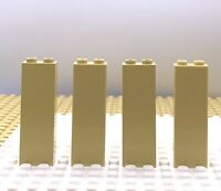 Lego Part 4114064 Brick Column 1x2x5 Tan X4 Parts 2454 Brick Yellow