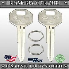 2 New Uncut Replacement Keys For Mitsubishi Vehicles - MIT1 / MIT-16 / X176
