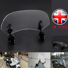 Motorcycle Universal Clip On Windshield Wind Screen Extension Spoiler Deflector