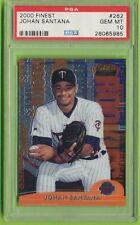 2000 Topps Finest Minnesota Twins Johan Santana RC #262-PSA GEM MT 10    #/3000