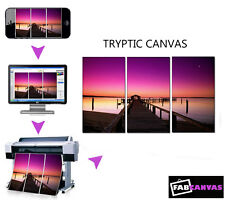 My/Your Photo/Image Print to Canvas A3 TRYPTIC 3 PIECE SPLIT canvas