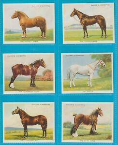 Players cigarette cards - TYPES OF HORSES - Full set