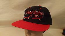 Vtg Darrell Waltrip Western Auto #17 Black Snapback Hat/Cap NOS Trucker Nascar