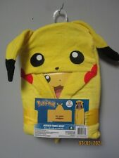 Nintendo Pokèmon Pikachu Hooded Towel Wrap Size 24 in x 50 in