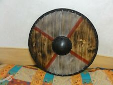 "Vintage Viking Shield Medieval Battle-Ready Shield Wooden Shield 29,5"""