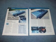 """1063 Chevy Impala SS Convertible Article """"Show-Me-State Sensation"""""""