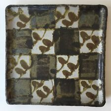 Robert Sperry Checkered Tray Plate 1960s Studio Pottery