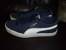 Puma Suede S, Navy Blue & White suede ladies trainers size 5