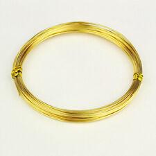 ROULEAU 10 METRES FIL ALUMINIUM DORÉ 0,8MM  perles bracelet collier bague *C197A