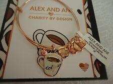 Alex and Ani COFFEE MUG Charity By Design Shiny Rose Bangle New W/Tag Card & Box