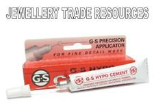 JEWELLERS G-S HYPO CEMENT CLEAR GLUE BEADS PEARLS WATCH GLASS JEWELLERY FINDINGS