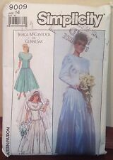 1988 Simplicity Gunne Sax Wedding Dress Sewing Pattern 9009 Sz 14