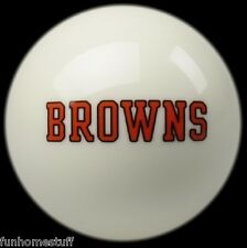 CLEVELAND BROWNS WHITE NFL TEAM BILLIARD GAME POOL TABLE REPLACEMENT CUE 8 BALL