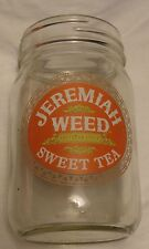 Jeremiah Weed Sweet Tea Vodka...Pint Canning Jar with logo on the side...NEW