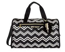 Betsey Johnson Carry on Weekender Travel Duffel Bag Chevron Patteren