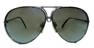 PORSCHE DESIGN P8478 B  Men's Sunglasses Grey Gradient Silver Mirror and Green