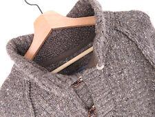 F177 Grand Visage Pull original Premium laine mélangée col large taille L