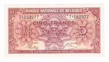 5 Frank/Franc = 1 BELGA    type  LONDEN    01.02.1943     Morin13   UNC