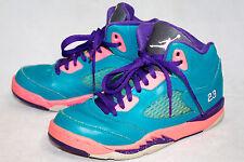 NIKE AIR JORDAN 440893-307 Retro V Girls 2Y Tropical Teal Pink High Top Sneaker