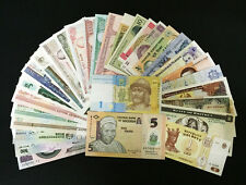 Lot 20pcs Bundle of All Different World Foreign Currency Bank notes Legal Money