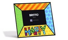 ✿ Romero Britto ✿ 4 x 6 Glass Photo Frame: Happy * New *
