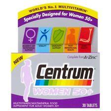 3x Centrum Women 50+ MultiVitamins Minerals Food Supplement -Worlds No.1 Vitamin