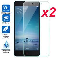 For XiaoMi Redmi Note 2 3 2Pcs Premium 9H Tempered Glass Screen Film Protector