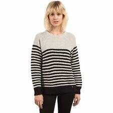 2017 NWT WOMENS VOLCOM COLD DAZE SWEATER $55 S star white/black striped