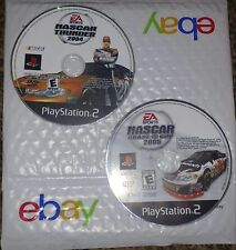 EA Sports Nascar Thunder 2004 Chase For The Cup 2005 LOT OF 2 PS2 Playstation 2