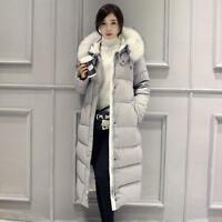 Womens Loose Thick Down Coat Girls Long Winter Warm Cotton Slim Outwear Yoooc