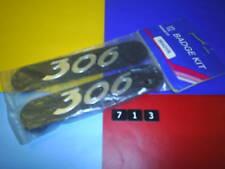 A NEW PAIR GENUINE PEUGEOT 306 MUD FLAP MUD GUARD BADGES EMBLEMS. 96431R